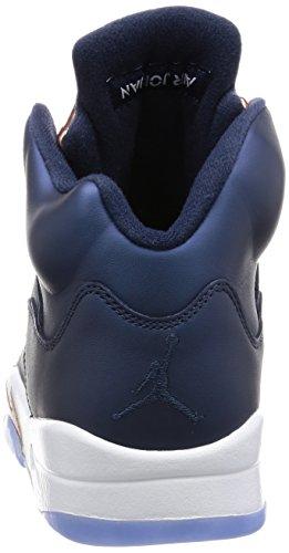 Nike Herren Air Jordan 5 Retro Turnschuhe Schwarz (Obsidian / Weiß-MTLC Bronze-Netzwerk)