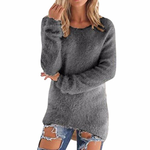 Maglione lungo donna ragazza tumblr autunno invernali sportiva solid maniche lunghe jumper pullover irregolare sweater eleganto maglia blusa top - bienbien