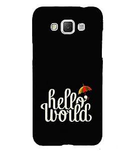 Fuson Designer Back Case Cover for Samsung Galaxy Grand 3 :: Samsung Galaxy Grand Max G720F (Hello woud theme)
