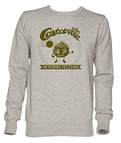 ille Artichoke Festival - Dustins Shirt in Stranger Things! Unisex Grau Jumper Sweatshirt Herren Damen Größe L   Unisex Jumper Sweatshirt for Men and Women Size L ()