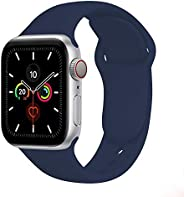 Compatible with Apple Watch Bands 38mm 40mm,Soft Silicone Fitness Replacement Accessories Straps Wristbands fo