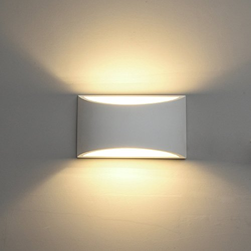 Indoor wall lights amazon deckey wall light led up and down indoor lamp uplighter downlighter warm white mozeypictures Images