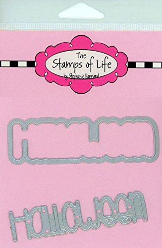 Die Briefmarken Of Life Halloween sterben Schnitte und-blatt Combo Pack für Karte machen Scrapbooking und DIY Basteln von Stephanie Barnard-Wort Sentiment sterben