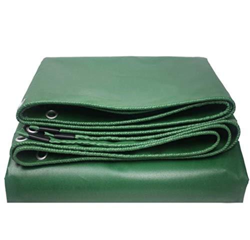 ZOTEE Bâche de Protection en polyéthylène Lourd, Tissu d'extérieur Tarpsulin Anti-déchirure idéal pour Une Utilisation par Tous Les Temps à l'extérieur,Green_2x2m