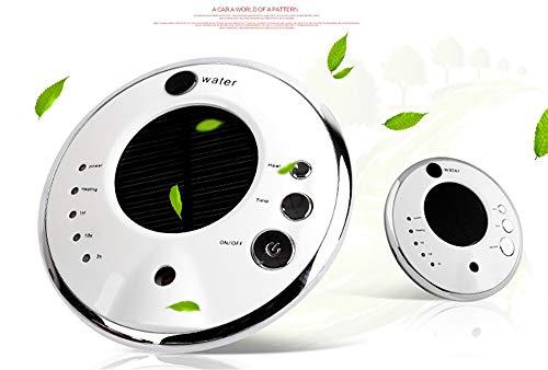 JUZEN Máquina Creativa de Aromaterapia Humidificador de Oxígeno del Coche Purificador de Aire con Inteligente Coche Ionizador Hogar Dormitorio Coche Aroma Humidificador Solar,Red