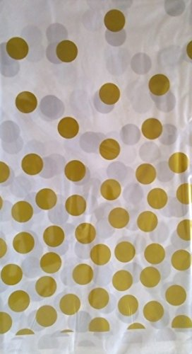 saxxdeluxe Gold Weiße abwaschbare Einweg-Party-Tisch-Decke-Deko-Kinder-Geburtstag-Idee