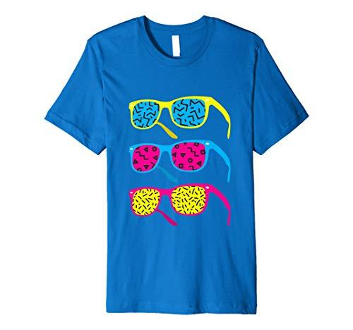 Retro Hipster 801980er Shirt: Kostüm & Casual 80s Gläser