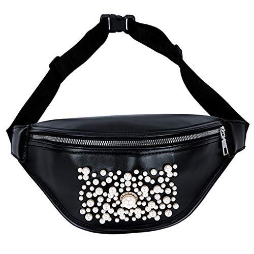 friendGG Neue Frauen Im Freien Einfarbig Perle ReißVerschluss UmhäNgetasche Sport Brusttasche GüRteltasche UmhäNgetaschen Schultertaschen Rucksack Taschen Handtaschen Tasche -