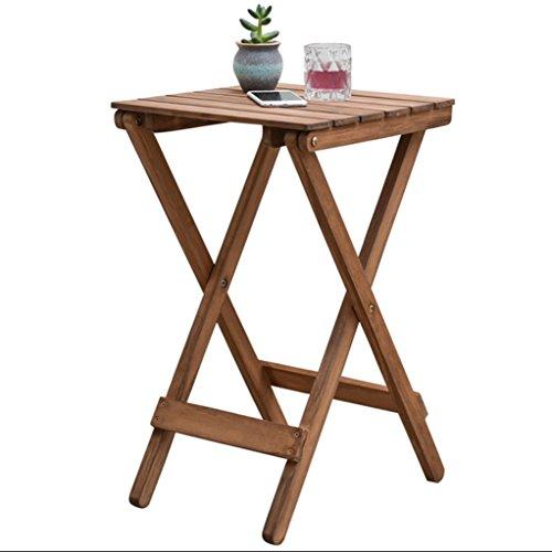 DFHHG® Porte-fleurs, bois massif Nordic Salon simple Balcon Placé Tables pliantes table basse en plein air Petite table couleur primaire 35.5 * 35.5 * 60cm Support de fleur américain