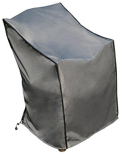 Housse de protection Chaise | Gris | | 67 x 67 x 80/110 cm (L x W x H) | SORARA | Polyester & Revêtement PU | Pour Jardin, Terrasse, Meubles | Qualité