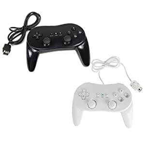 Man Friday 2nd Generation Classic Controller Pro For Nitendo Wii Black & White - Black