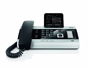 Gigaset DX600A Komfort Telefon -  Schnurgebundes Telefon / Schnurtelefon -Anrufbeantworter - Farbdisplay - Freisprechen / Dect Telefon - ISDN - schwarz