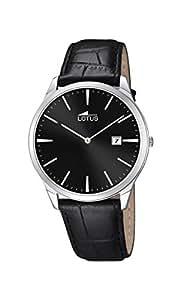Lotus - 10124/4 - Montre Homme - Quartz - Analogique - Bracelet Cuir noir