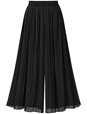 SHOBDW Pantalones de Mujers Tallas Grandes, Anchos con lanura Abocinado Anchos Pierna Cintura elástica de Cintura...