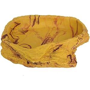 Lucky Reptile WDS-4 Water Dish Sandstein, groß, Wassernapf oder Futternapf für Terrarien