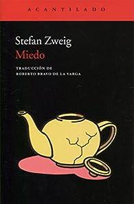Miedo par Stefan Zweig
