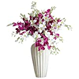 Simulation Phalaenopsis Orchid - SODIAL(R) 5pcs Artificial Phalaenopsis Orchid Flowers Silk Flower Wedding Decoration for Home Dining Table Artificial Flower (Random Color)