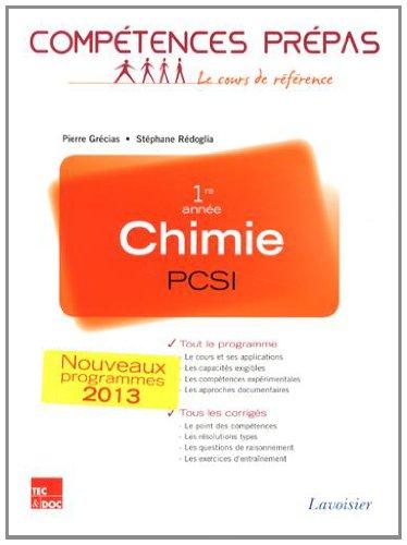 Chimie 1re anne PCSI