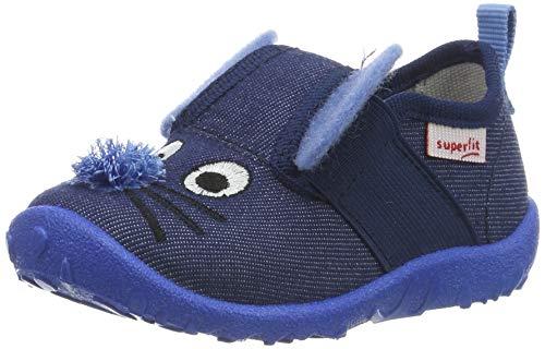 Superfit Jungen Spotty Niedrige Hausschuhe, Blau (Blau 80), 25 EU