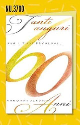 Carte d'anniversaire Nombre élégantes 60 ans B079MHFNF7 | Exquise (in) De Fabrication