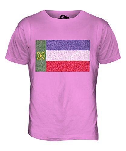 CandyMix Chakassien Kritzelte Flagge Herren T Shirt Rosa
