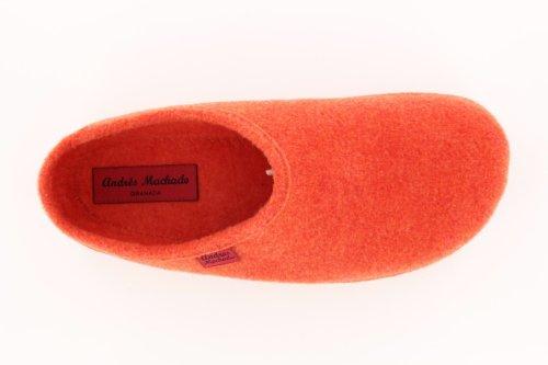 Andres Machado - Am001 - Loriginale Dal 1984 - Pantofole Di Qualità Realizzate In Spagnolo - Realizzate In Spagna Arancione