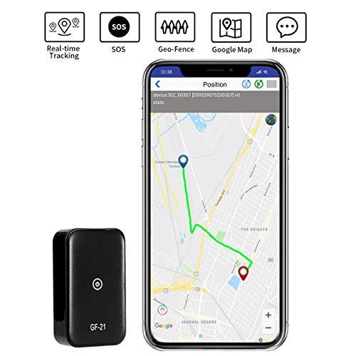 PANNOVO GPS Tracker Mini tragbare GPS Tracker Locator für Kinder Kinder Auto