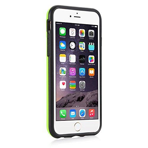 iPhone 6s Hülle, iPhone 6 Hülle, Pasonomi® [Outdoor] [Heavy Duty] [Dual Layer] Hybrid Bumper Schutzhülle Case Cover mit Kreditkartenfach für Apple iPhone 6 und iPhone 6S (4.7 Zoll) (Dunkelblau) Grün