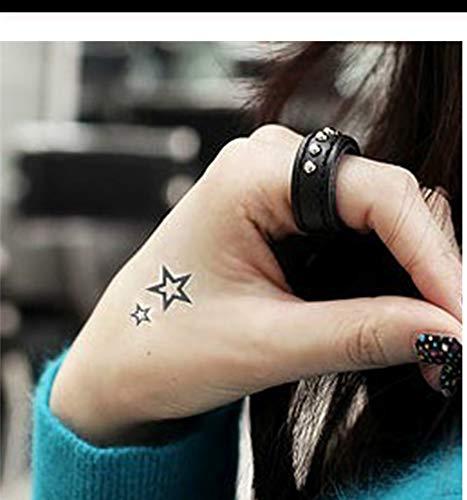 LFVGUIOP Männer Und Frauen wasserdichte Body Art Fake Tattoo Aufkleber Hohl fünfzackigen Stern Sexy Tattoo Großhandel Neu PCS 4
