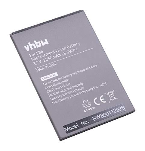 vhbw Li-Ion Akku 2250mAh (3.7V) für Handy Smartphone Telefon Timmy E86, MPai 809t, MPie Mini 809t Wie E86.