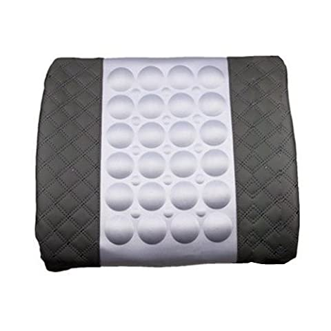 Specialized Electrical Car Auto Seat Cover Back Cushion Massage Lumbar Posture Support Pillow Mat (Grey) by Shenluolai