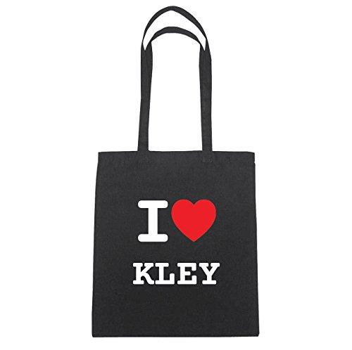 JOllify Kley di cotone felpato B475 schwarz: New York, London, Paris, Tokyo schwarz: I love - Ich liebe