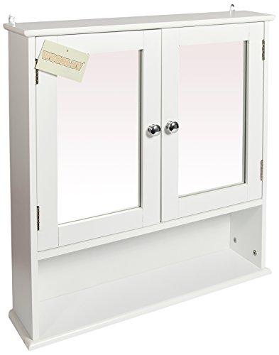Espejo montado en la pared Woodluv de baño muebles - doble puerta Shutted