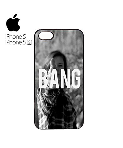 Sexy Girl Bang Cool Gun Attack Love Mobile Phone Case Cover iPhone 6 Plus + Black Blanc