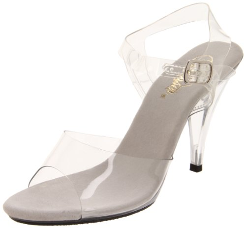 Fabulicious Damen CARESS-408 Plateausandalen, Transparent (Clear), 35 EU