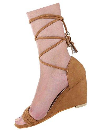 ... Damen-Schuhe Sandaletten   elegante High-Heel mit Keil Absatz in verschiedenen  Farben und ...