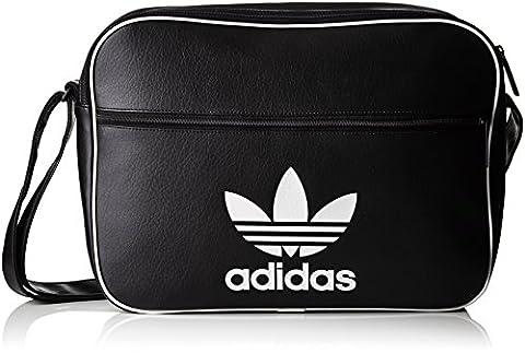 adidas Herren Airliner Classic Umhängetasche, Black, 39 x 29 x