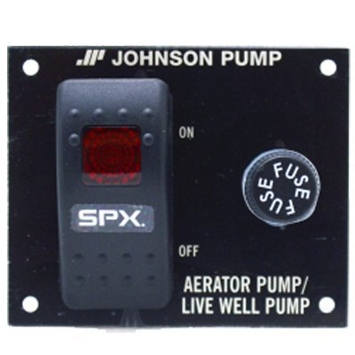 Johnson Pump Live Well Luftsprudler Panel Schalter Marine Distribution Panels