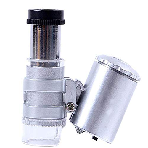 Bubbblebelle Detektor, gefälschtes Mikroskop, 60 x, multifunktional, mit violettem LED-Licht