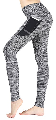 Munvot Damen Kompressions Sport Leggings - TUMMY CONTROL - Sport Tights Super für Fitness, Joggen, Yoga, Running etc.