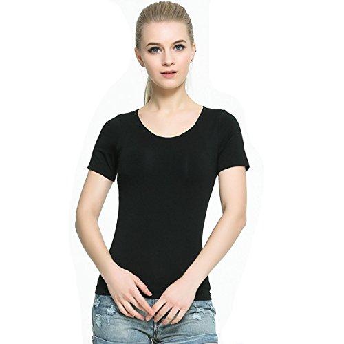 Keysui Sexy Soutien-gorge Sport Lingerie Femme Brassi¨¨re Armature T-shirt Couture Noir