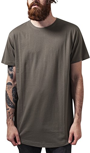Urban Classics Herren T-Shirt Shaped Long Tee, Grün (Olive 176), Medium
