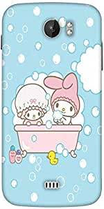 Snoogg Cute Baby Shower Designer Protective Back Case Cover For Micromax A110