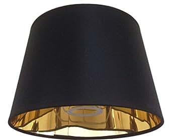 20,3cm schwarz Empire Lampenschirm Gold Futter Lampenschirm handgefertigt Tischlampe