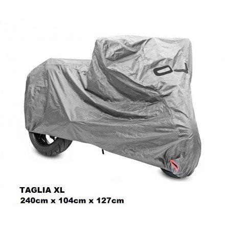 OJ JM10914 Bike Cover Wl Telo Copri Moto in Tessuto Spalmato Impermeabile con Cuciture Termosaldate e Fodera, Nero, Taglia XL