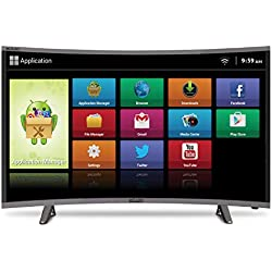 Mitashi 107.95 cm (43 inches) MiCE043V30 FS Full HD Smart Curved LED TV (Black)