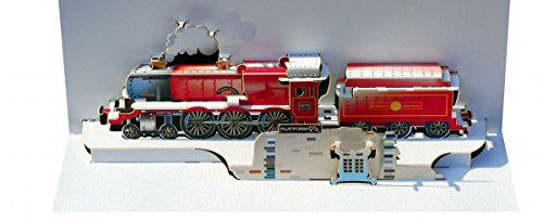 Pop Up 3D Karte Hogwarts Eisenbahn Grusskarte Geburtstag Hogwarts Express at plattform9 3/4 25x15cm