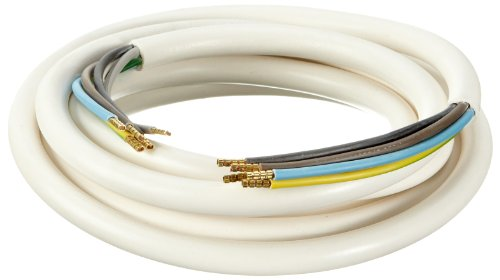 as - Schwabe 70866 Herd-Anschlussleitung, 3m H05VV-F 5G1,5, weiß, IP20 Innenbereich - Elektroherd Kabel