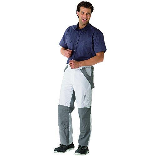 Planam Pantalon plaline blanc/zinc