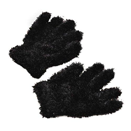 Handschuhe Longra, Säugling Baby Mädchen Jungen Winter warme Stricken Baumwolle Handschuhe(1 bis 6 Jahre) (black)